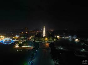 夜拍魁岗文塔公园VR展示2021.1.25