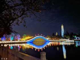 文塔公园新年夜景